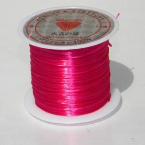Fir elastic, 0,8 mm, FUCHSIA (1 m)