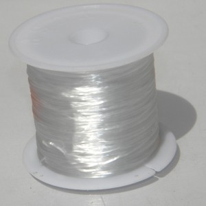 Fir elastic 0,6 mm, ALB (1 m)