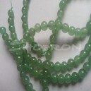 Margele aventurine, Greeb natural, 6mm