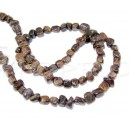 Margele Gemstone, natural Bronzite, maro, 3mm, 3-5 mm lungime, gaura 0.8mm