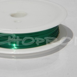 Sarma insirat margele, verde, 0.38mm